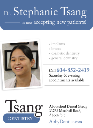 Dr. Stephanie Tsang newspaper advertisement design