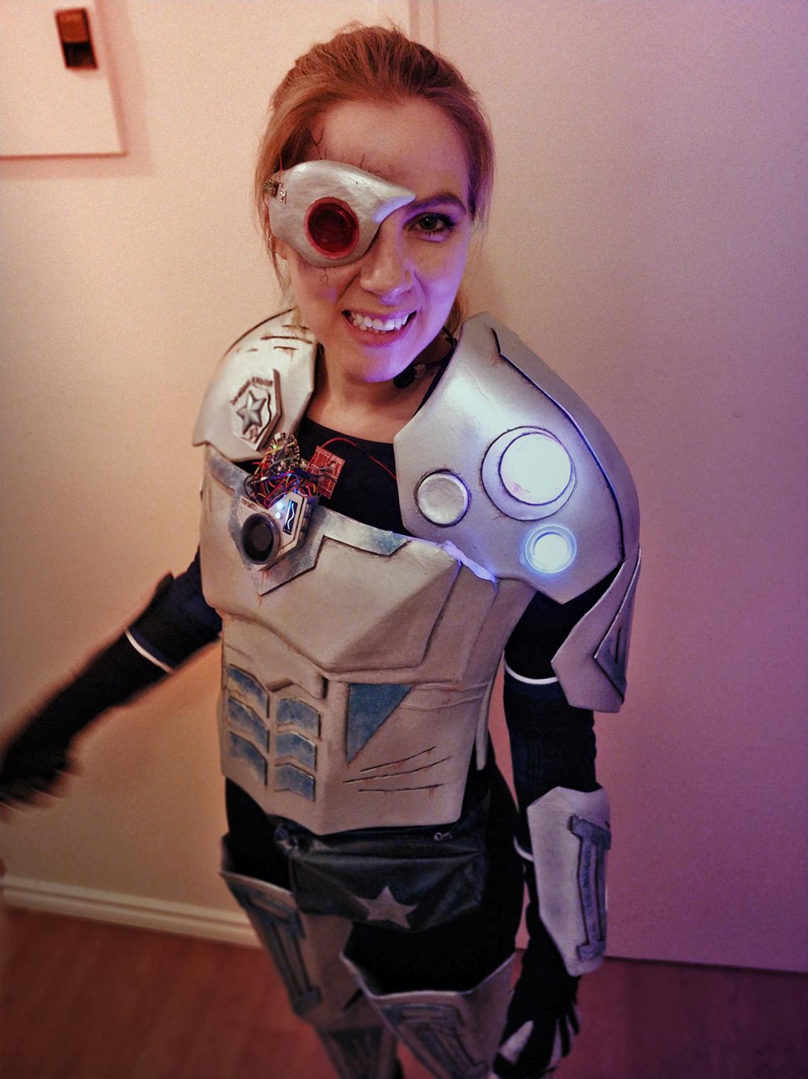 Cyborg police officer costume